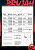 VtM character sheet  (Brujah)