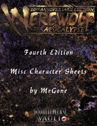 MrGone's Werewolf The Apocalypse Fouth Edition Misc Character Sheets