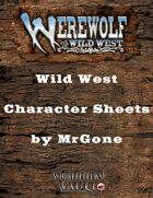 MrGone's Werewolf The Wild West Character Sheets