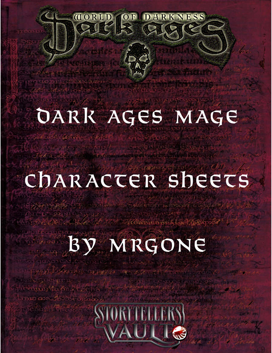 Mrgones Dark Ages Mage Character Sheets White Wolf Storytellers