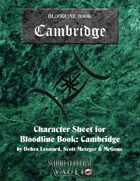 MrGone's Bloodline Cambridge Character Sheets