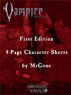 MrGone's Vampire the Requiem First Edition 4-Page Character Sheets
