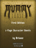 MrGone's Mummy The Curse First Edition 1-Page Character Sheets