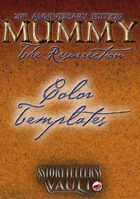Mummy: The Resurrection Color Templates