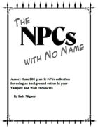 The NPCs with No Name