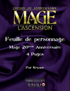 Feuille de personnage Mage l'Ascension M20