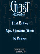 MrGone's Gesit the Sin-Eaters First Edition Misc. Character Sheets