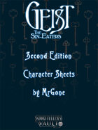 MrGone's Gesit the Sin-Eaters Second Edition Character Sheets