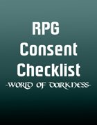 World of Darkness RPG Consent Checklist (Letter)