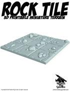 Rocket Pig Games: Tilescape™ DUNGEONS System ROCK TILE