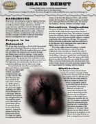 Grand Debut: A Modern Horror One Sheet for Savage Worlds