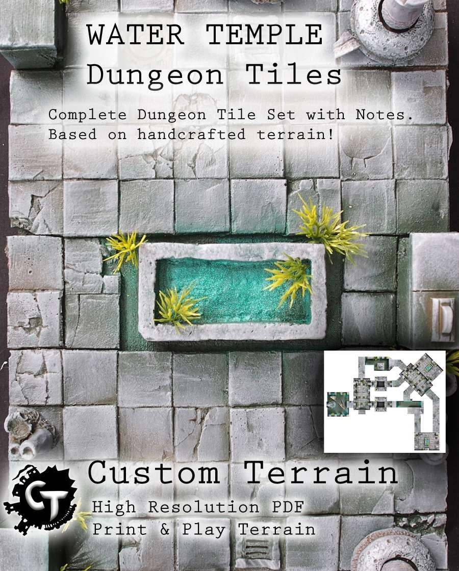 Water Temple Dungeon Tiles Set - Custom Terrain | Digital ...