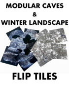 6x6 Caves & Winter Flip Tiles
