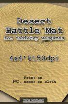 Wargames Battle Mat 4'x4' - Desert (021b)