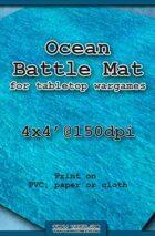Wargames Battle Mat 4'x4' - Ocean (071b)