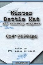Wargames Battle Mat 6'x4' - Winter Snow (031)