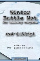 Wargames Battle Mat 4'x4' - Winter Snow (031b)