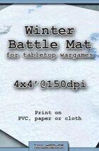 Wargames Battle Mat 4'x4' - Winter Snow (031b)
