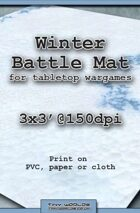 Wargames Battle Mat 3'x3' - Winter Snow (031c)