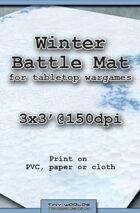 Wargames Battle Mat 3'x3' - Winter Snow (031c)