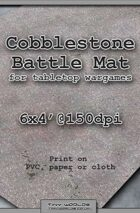 Wargames Battle Mat 6'x4' - Cobblestone City (041)