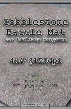 Wargames Battle Mat 4'x4' - Cobblestone City (041b)