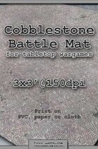 Wargames Battle Mat 3'x3' - Cobblestone City (041c)