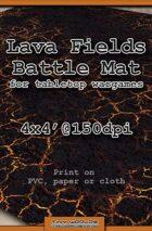 Wargames Battle Mat 4'x4' - Lava Fields (051b)