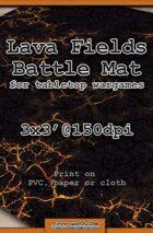Wargames Battle Mat 3'x3' - Lava Fields (051c)