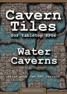 Cavern Tiles - Water Caverns - RPG Game Tiles