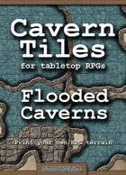 Cavern Tiles - Flooded Caverns - RPG Game Tiles