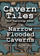 Cavern Tiles - Narrow Flooded Caverns - RPG Game Tiles