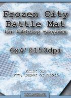 Wargames Battle Mat 6'x4' - Frozen City (032)