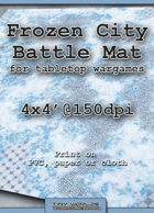 Wargames Battle Mat 4'x4' - Frozen City (032b)