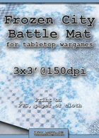 Wargames Battle Mat 3'x3' - Frozen City (032c)