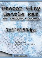 Wargames Battle Mat 3'x3' - Frozen City (032c)