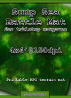 Wargames Battle Mat 4'x4' - Sump Sea (081b)
