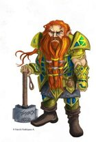 Dwarf Warrior I - Fantasy Art