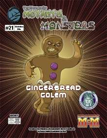 Manual of Mutants & Monsters Gingerbread Golem