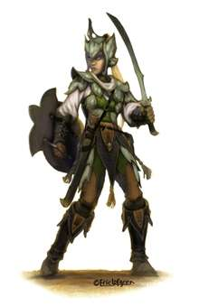 Eric Lofgren Presents Female Elf Fighter