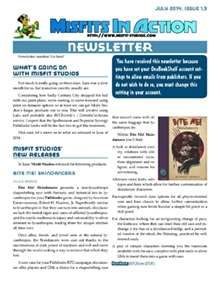 Misfit Studios July 2014 Monthly Newsletter