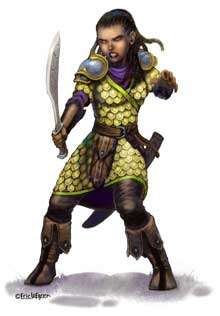 Eric Lofgren Presents Female Halfling Fighter