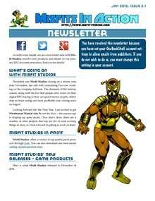 Misfit Studios January 2015 Monthly Newsletter