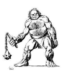 Earl Geier Presents Ogre with Mace