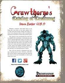 Crawthorne's Catalog of Creatures Ioun Eater