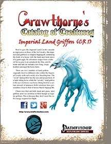 Crawthorne's Catalog of Creatures Imperial Land Griffon