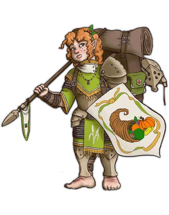 Brett Neufeld Presents Halfling Soldier