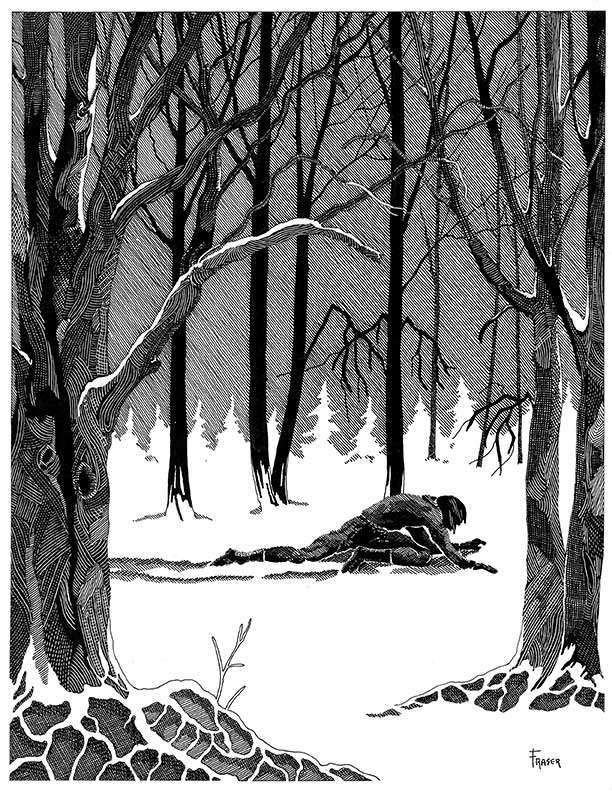 W Fraser Sandercombe Lost in the Snow