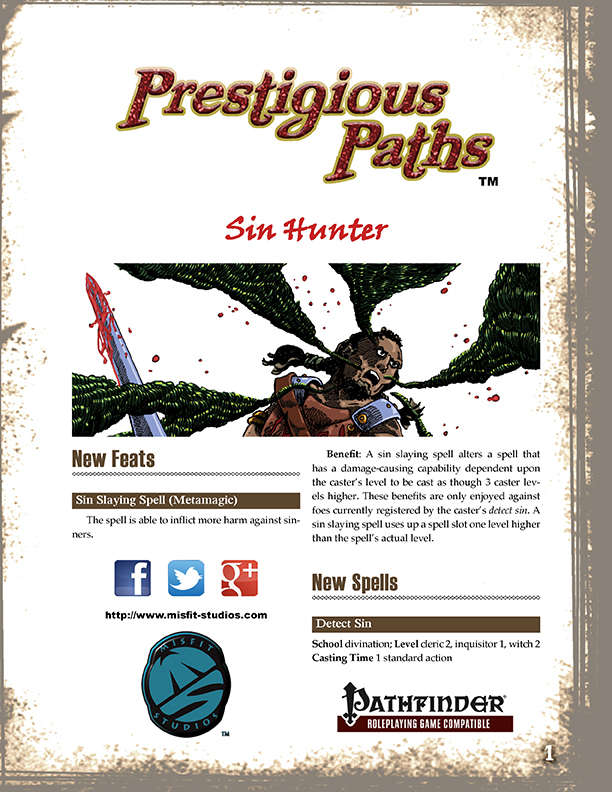 Prestigious Paths: Sin Hunter