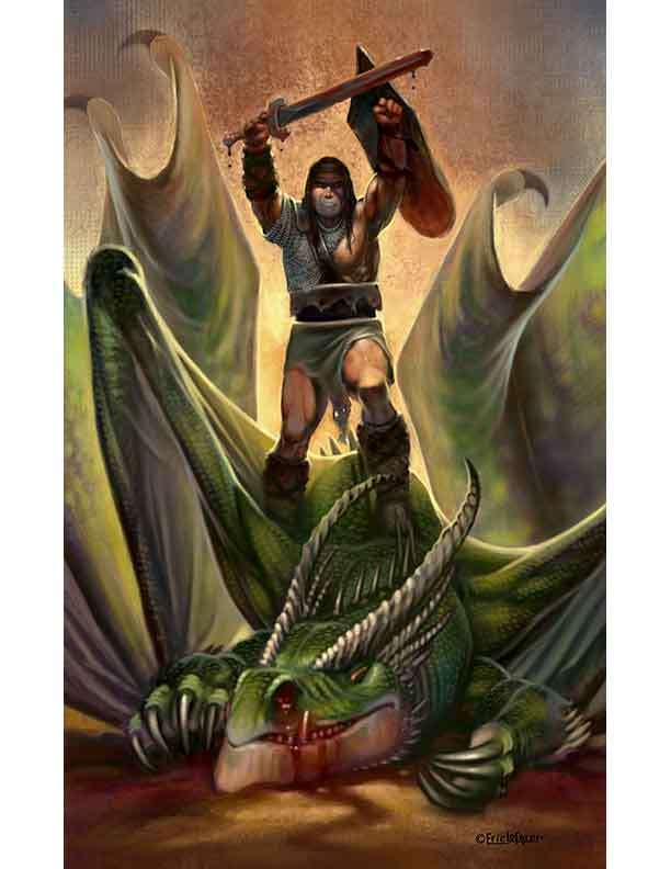 Eric Lofgren Presents Triumphant Dragonslayer